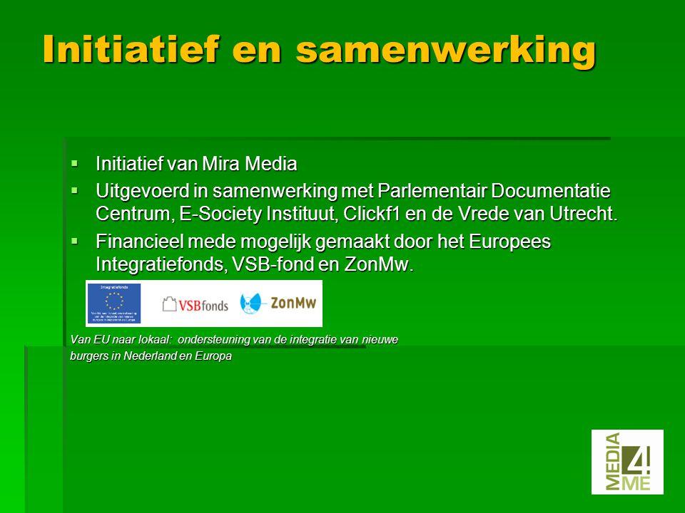  Initiatief van Mira Media  Uitgevoerd in samenwerking met Parlementair Documentatie Centrum, E-Society Instituut, Clickf1 en de Vrede van Utrecht.