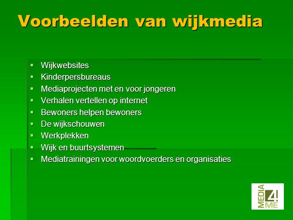 Aanwezigheid Media4ME in sociale media  Website  Facebook  Linkedin  Twitter.