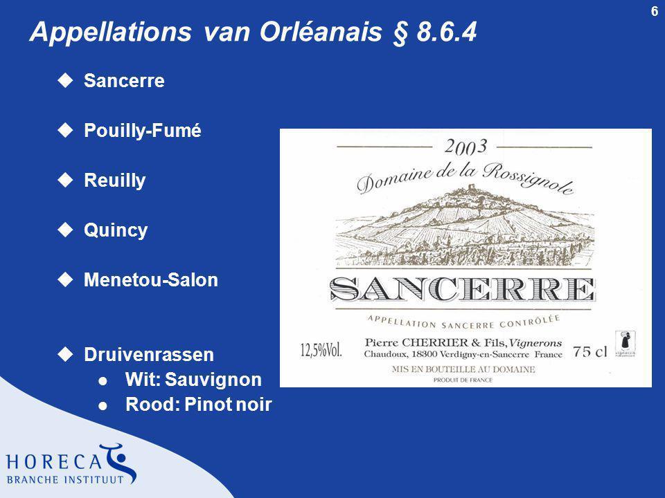 7 Prestige wijn § 8.6.4 u'Baron de L' l AOC Pouilly-Fumé l Sauvignon l Geschikt voor enkele jaren rijping m Château de Nozet