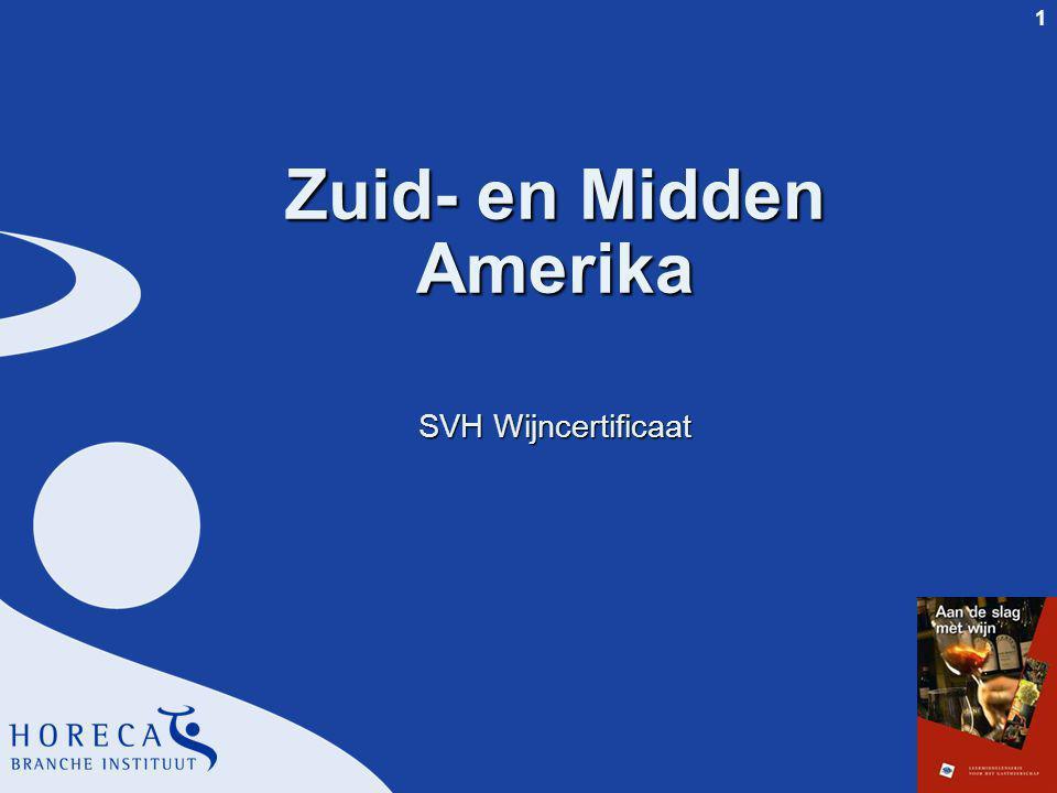 1 Zuid- en Midden Amerika SVH Wijncertificaat