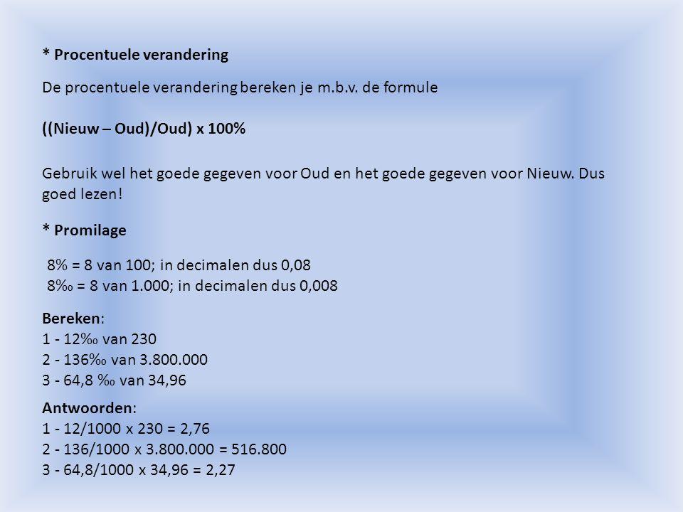 § 2.1: Indexcijfers Voorbeeld 1: De prijs van een bepaald type auto bedraagt in 2006 € 28.300.