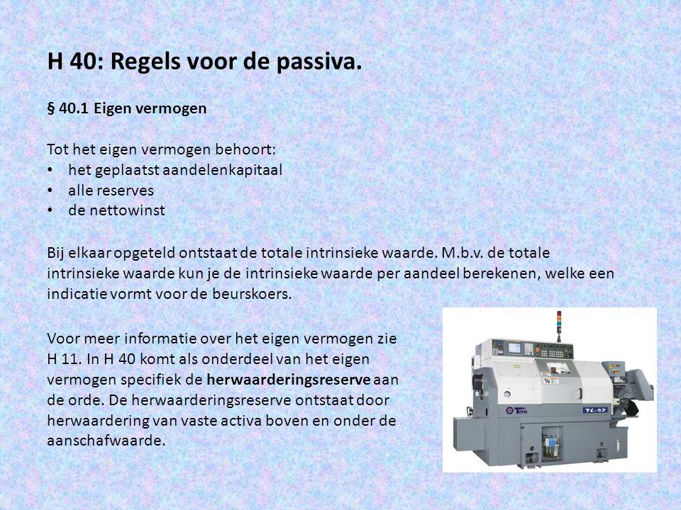 Voorbeeld: NV Tjerkstra geeft per 1-1-2012 de volgende balans vrij: Balans Tjerkstra per 1-1-2012 Machine€ 240.000Aandelenkapitaal€ 250.000 Vlottende activa€ 180.000Vreemd vermogen€ 195.000 Liquide middelen€ 25.000 € 445.000 De machine is gekocht op 1-1-2012 en wordt in 4 jaar lineair afgeschreven.