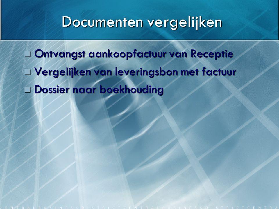Dossier afsluiten Ontvangst dossier van Boekhouding Ontvangst dossier van Boekhouding Dossier afsluiten Dossier afsluiten