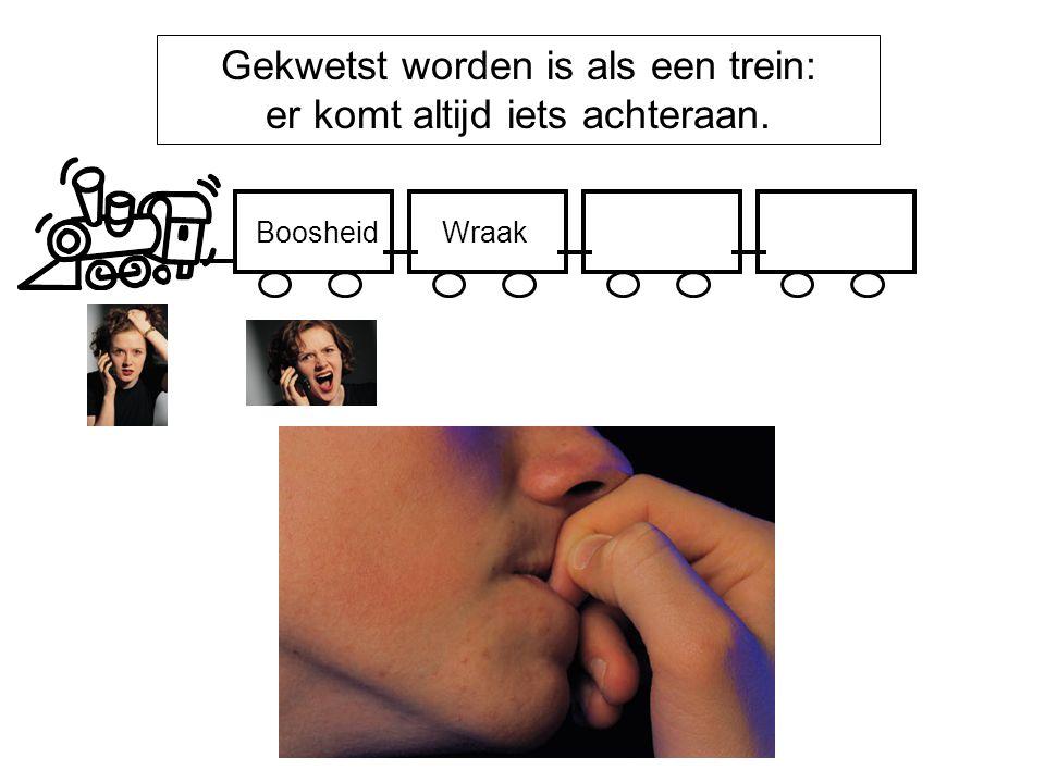 Gekwetst worden is als een trein: er komt altijd iets achteraan. BoosheidWraak
