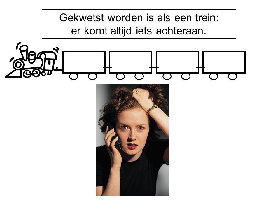 Gekwetst worden is als een trein: er komt altijd iets achteraan. Boosheid