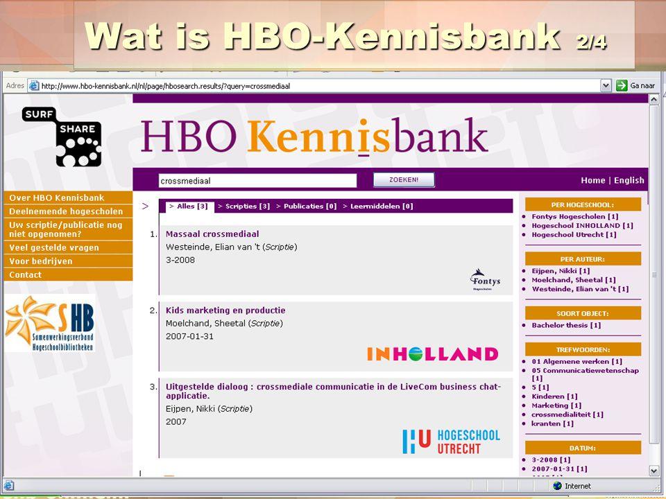 Wat is HBO-Kennisbank 2/4