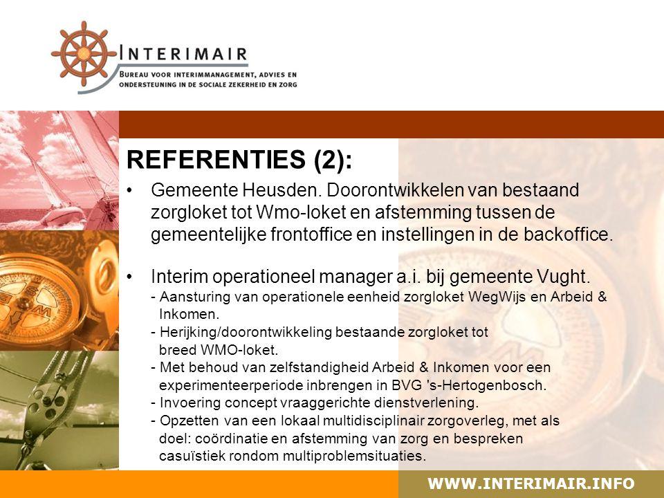 WWW.INTERIMAIR.INFO REFERENTIES (2): Gemeente Heusden.