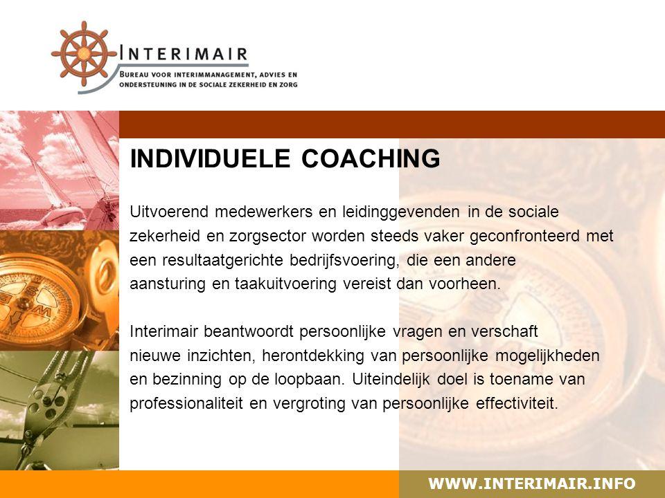 WWW.INTERIMAIR.INFO HUIDIGE OPDRACHTEN Vanaf 01 juli 2008 tot 01 juli 2010 werkzaam als extern projectleider bij de gemeente Schiedam voor het project 'Met Kompas Koersen naar Eigen Kracht'.