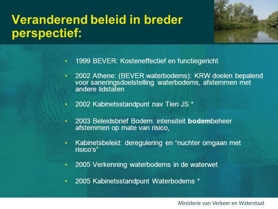 18 Beheer stroomgebieden Centraal: diensten die het watersysteem levert –Water accomoderen en afvoeren –Natuur accomoderen –Landbouw –Visserij –Recreatie –Drinkwater – …..