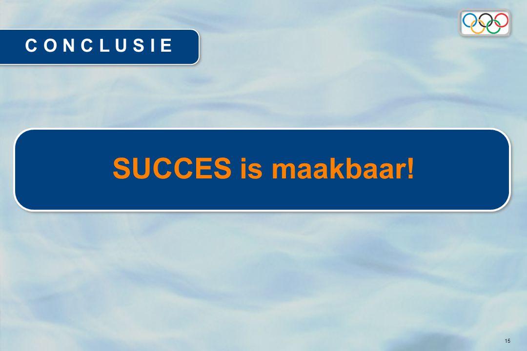 15 C O N C L U S I E SUCCES is maakbaar!