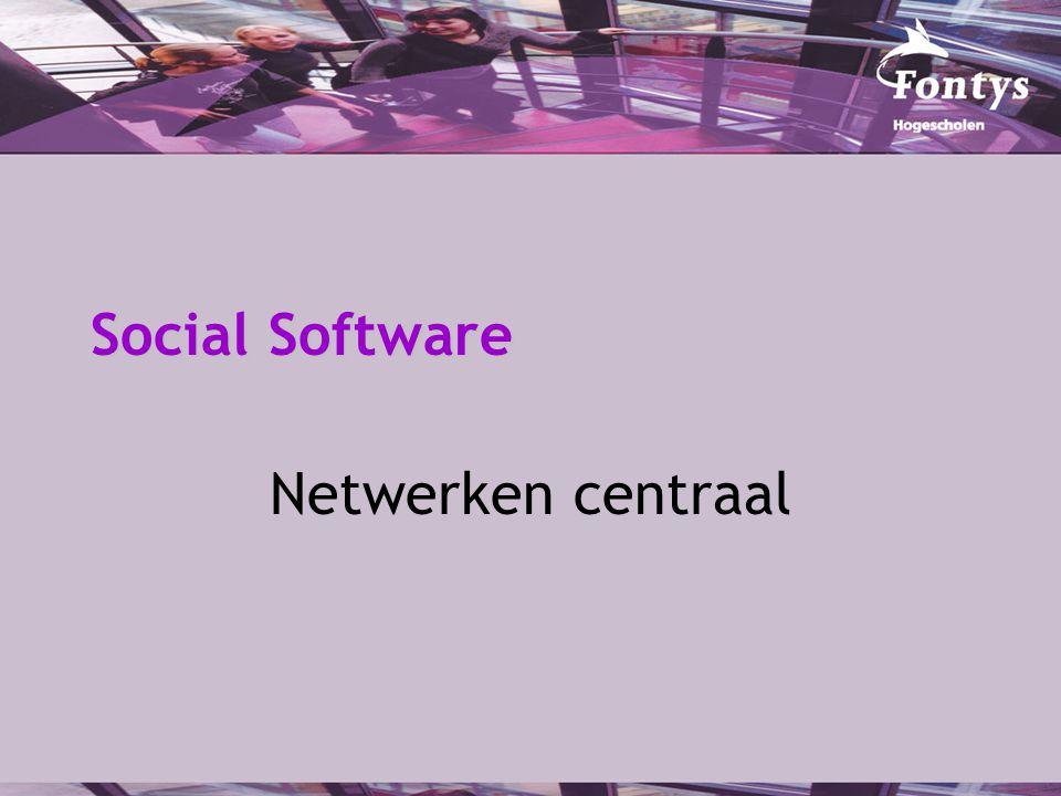 Social Software Netwerken centraal