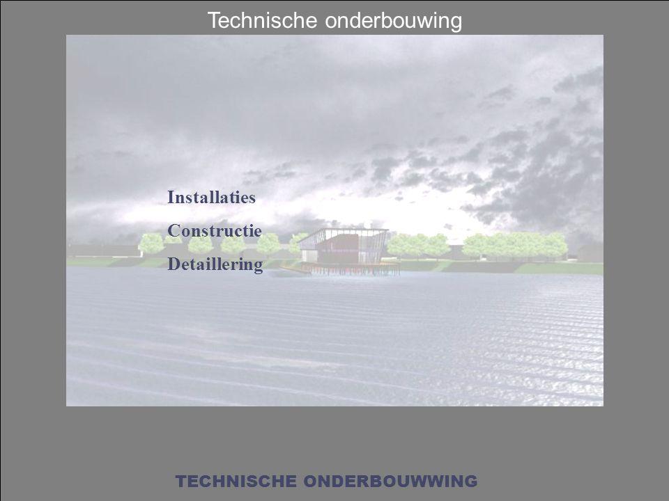 Technische onderbouwing TECHNISCHE ONDERBOUWWING Installaties Constructie Detaillering
