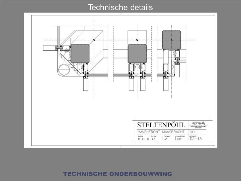 Technische details TECHNISCHE ONDERBOUWWING