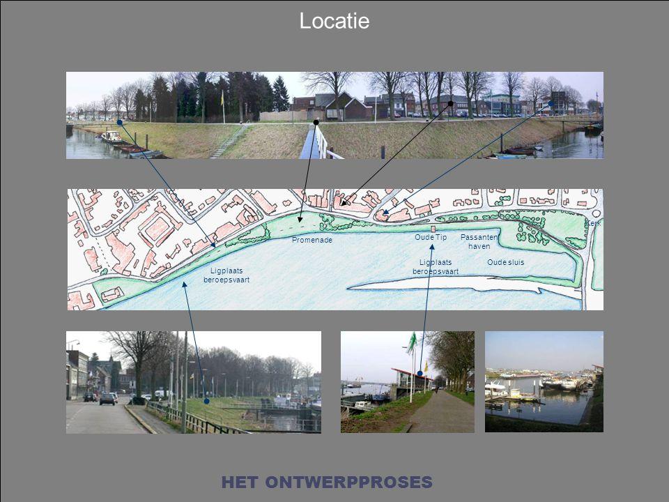 Promenade Oude Tip Oude sluis Passanten haven Ligplaats beroepsvaart Kerk Locatie HET ONTWERPPROSES