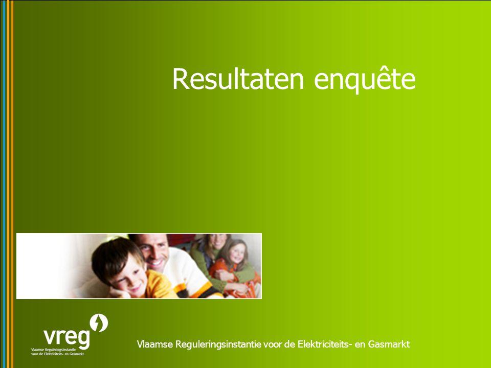 Vlaamse Reguleringsinstantie voor de Elektriciteits- en Gasmarkt Resultaten enquête