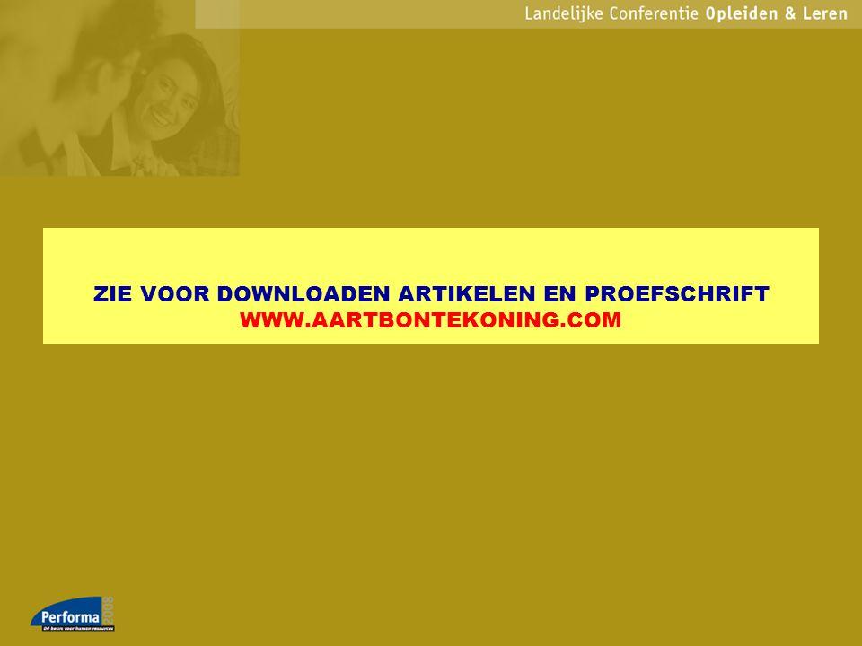 ZIE VOOR DOWNLOADEN ARTIKELEN EN PROEFSCHRIFT WWW.AARTBONTEKONING.COM