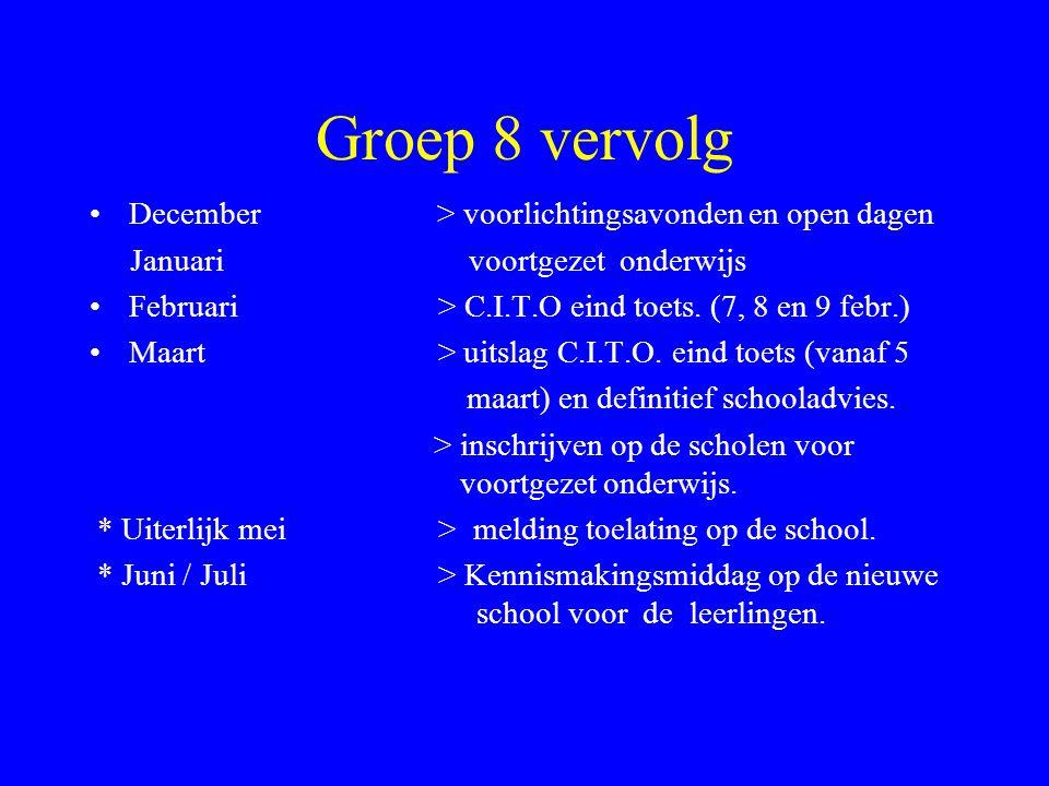 Groep 8 September / Oktober > N.I.O. Nederlands intelligentie onderzoek. September / Oktober > gesprekken met ouders over LWOO aanvraag + aanvraag ond