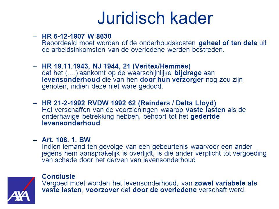 –HR 6-12-1907 W 8630 Beoordeeld moet worden of de onderhoudskosten geheel of ten dele uit de arbeidsinkomsten van de overledene werden bestreden. –HR