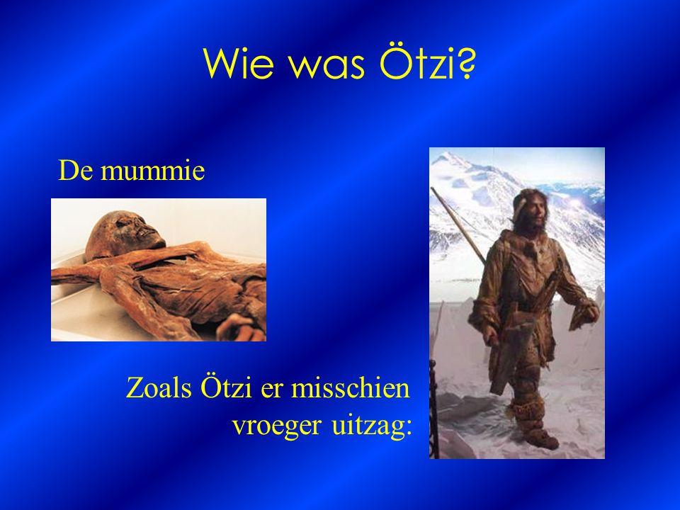 Wie was Ötzi? De mummie Zoals Ötzi er misschien vroeger uitzag: