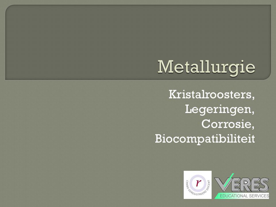 Kristalroosters, Legeringen, Corrosie, Biocompatibiliteit