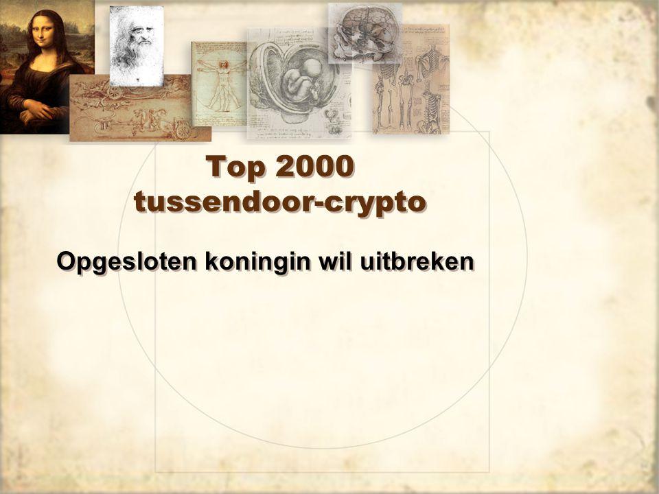 Top 2000 tussendoor-crypto Opgesloten koningin wil uitbreken