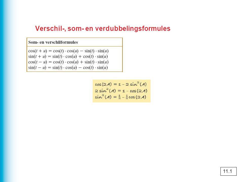 Verschil-, som- en verdubbelingsformules 11.1