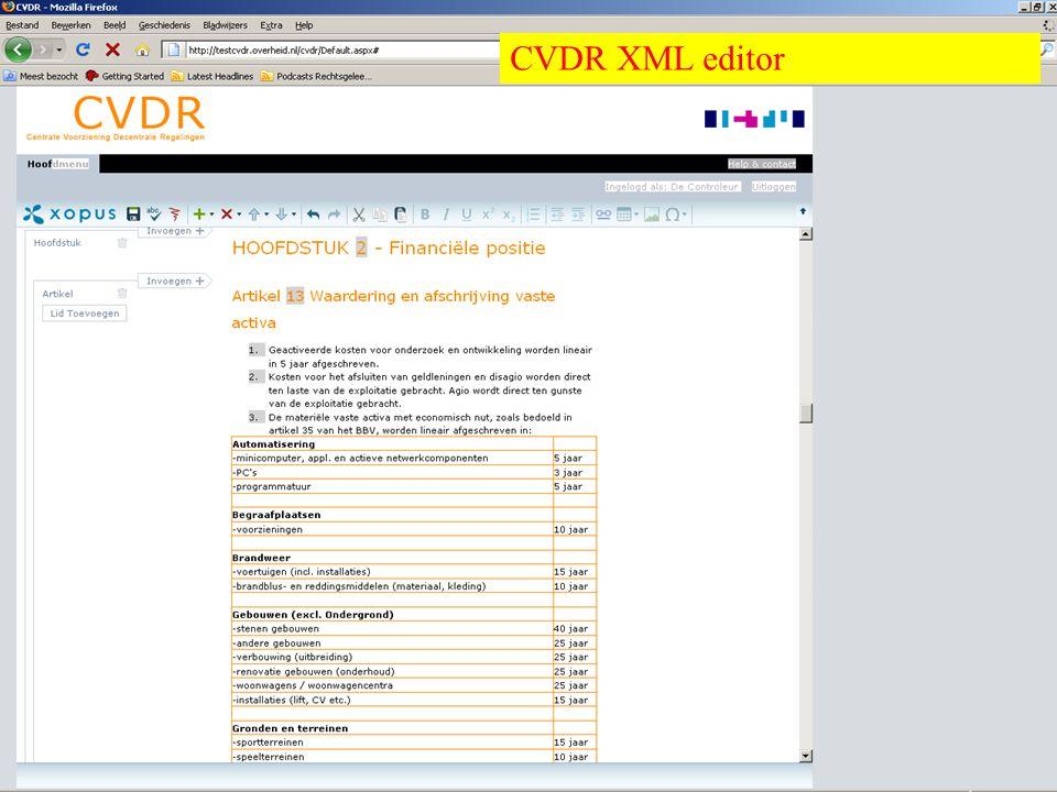 Overheid heeft Antwoord © © CVDR XML editor