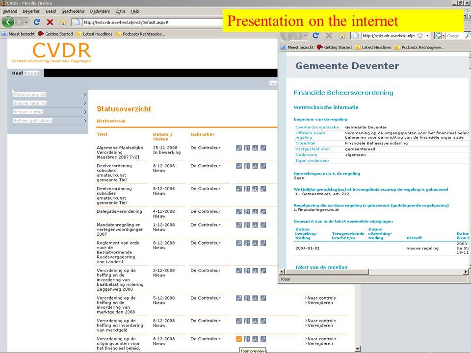 Overheid heeft Antwoord © © Presentation on the internet