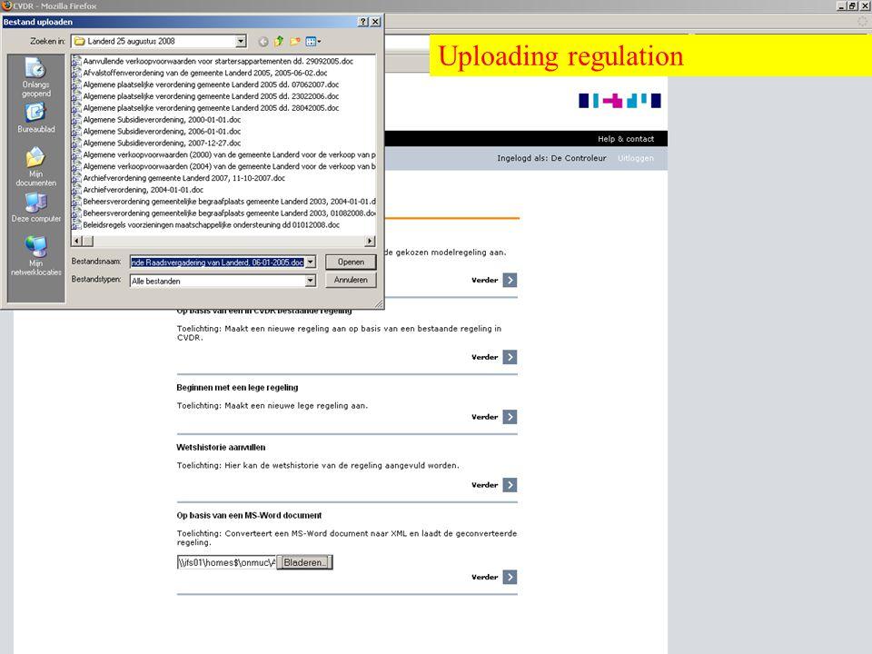 Overheid heeft Antwoord © © Uploading regulation