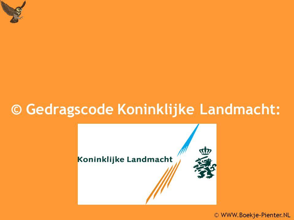 © Gedragscode Koninklijke Landmacht: