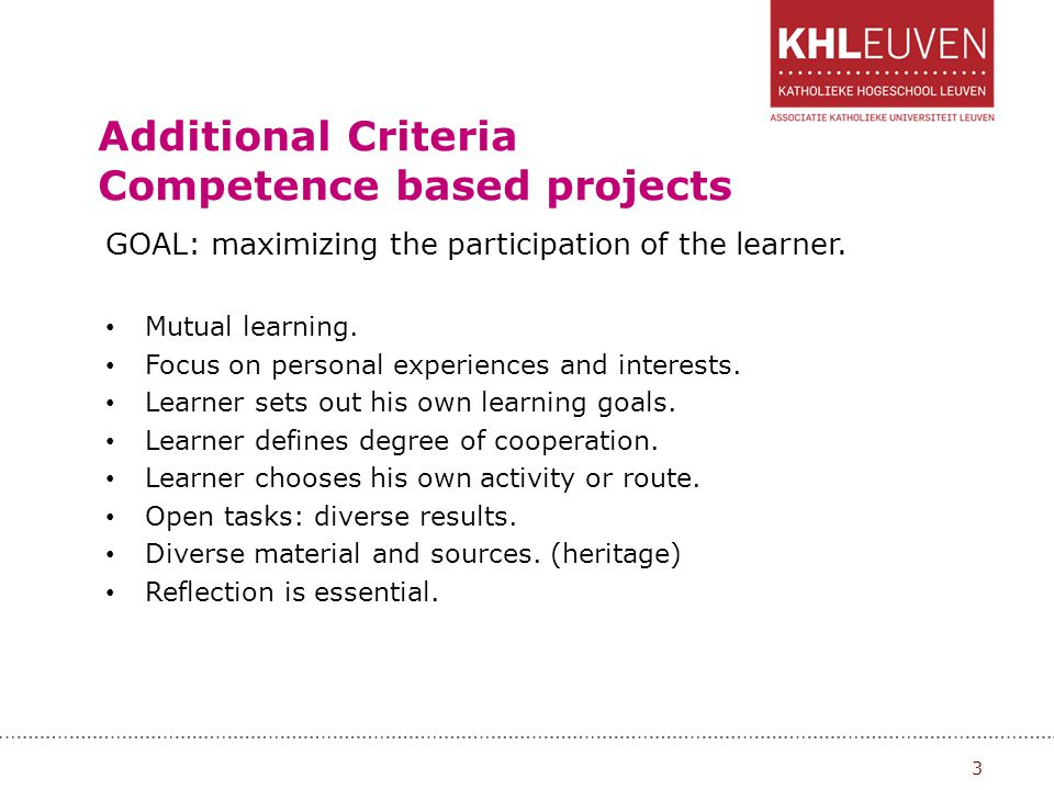 Transversal key Competences: CULTURAL EXPRESSION: Appreciation of the importance of the creative expression of ideas.