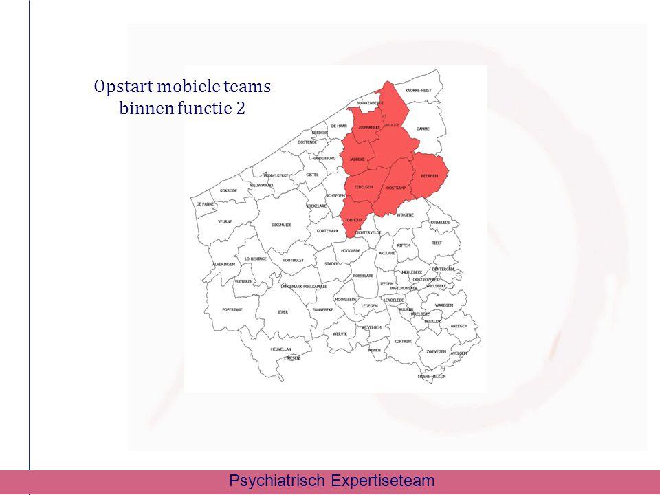 Opstart mobiele teams binnen functie 2 Psychiatrisch Expertiseteam