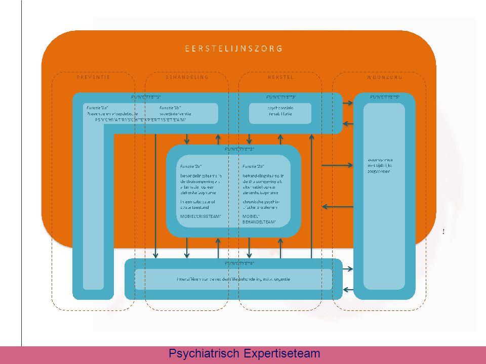 Teamsamenstelling  2 psychiaters : Dr.C. Bervoets en Dr.