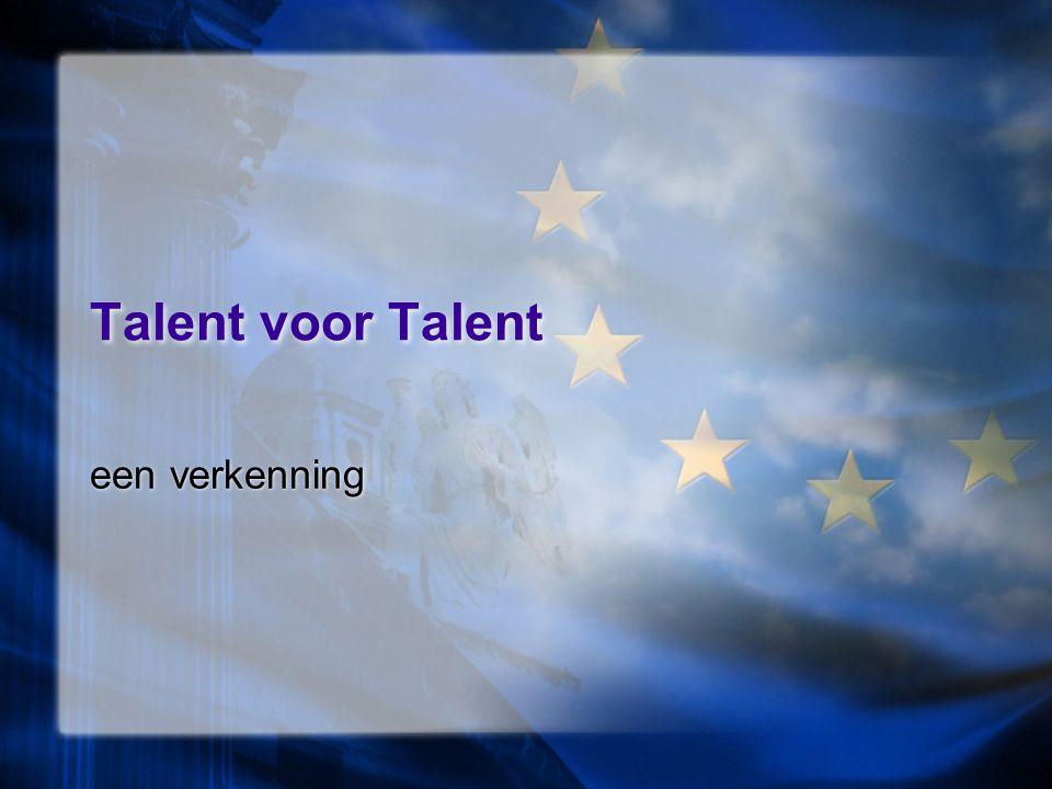 Talent voor Talent een verkenning