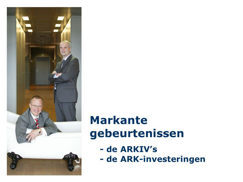Markante gebeurtenissen - de ARKIV's - de ARK-investeringen