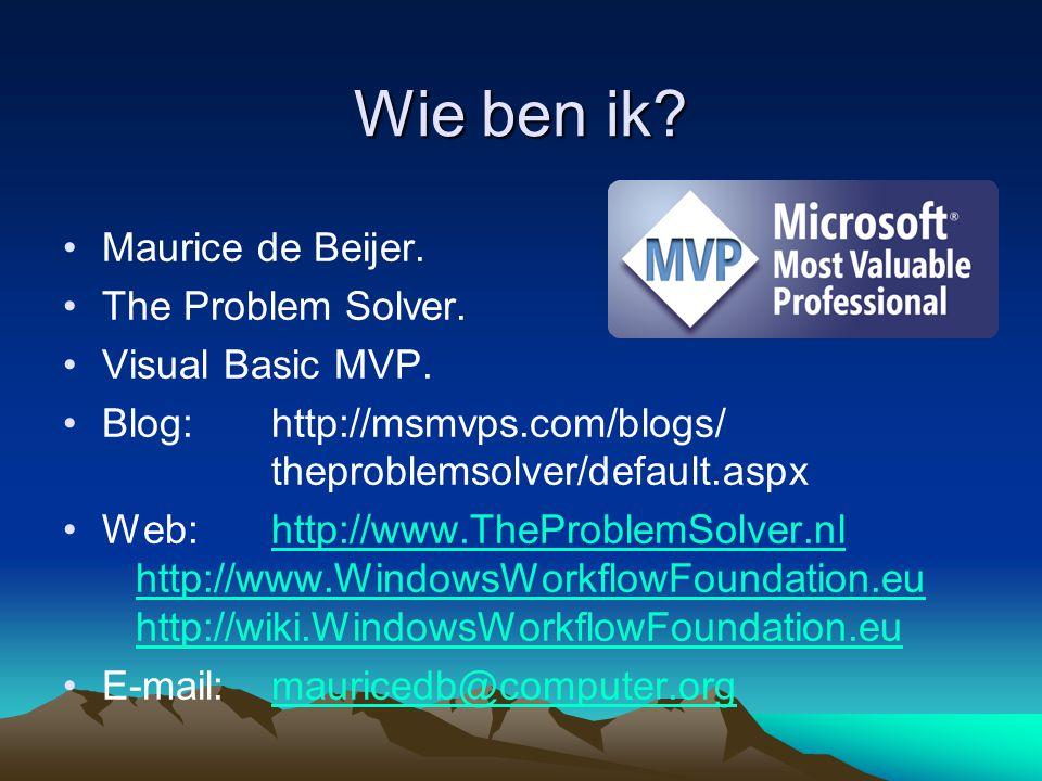 Agenda Waarom Windows Workflow Foundation.Een overzicht van WF.