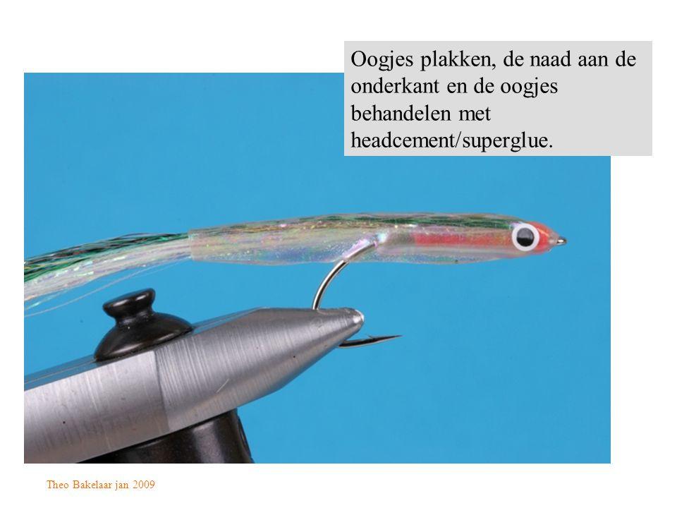 Theo Bakelaar jan 2009 Oogjes plakken, de naad aan de onderkant en de oogjes behandelen met headcement/superglue.