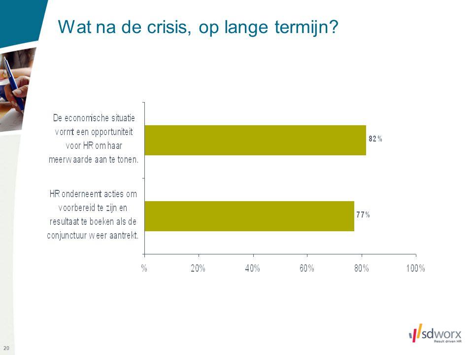 20 Wat na de crisis, op lange termijn?