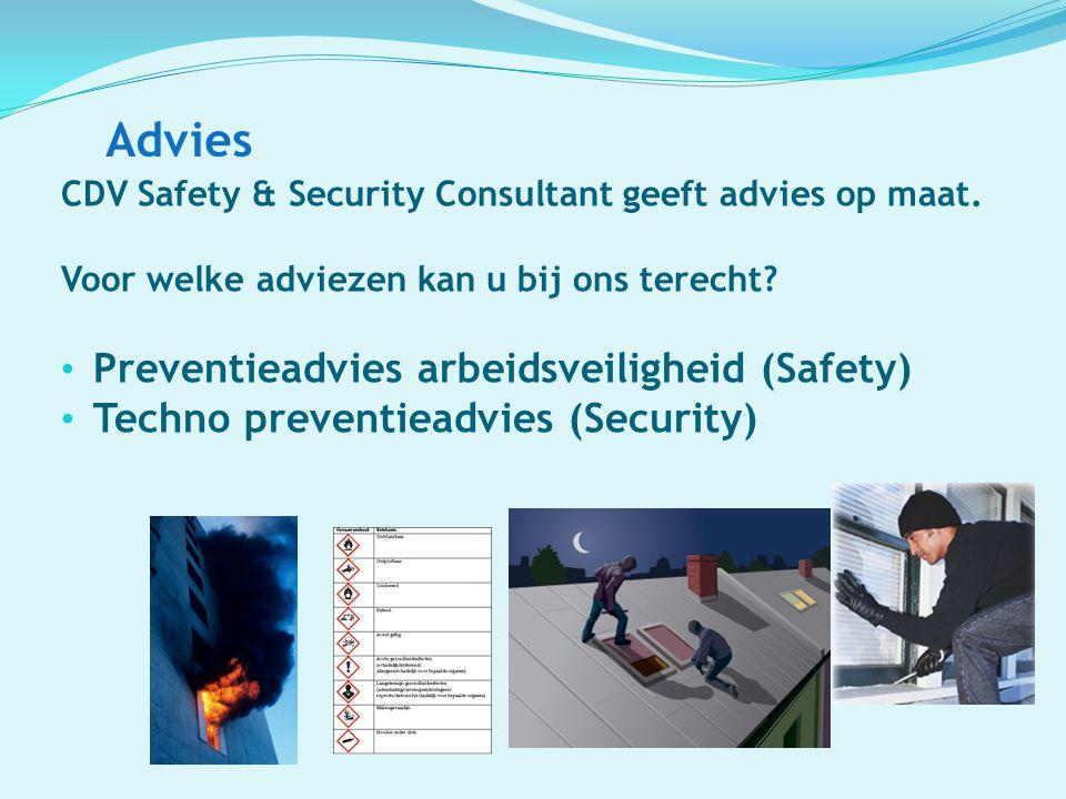 Advies CDV Safety & Security Consultant geeft advies op maat. Voor welke adviezen kan u bij ons terecht? Preventieadvies arbeidsveiligheid (Safety) Te
