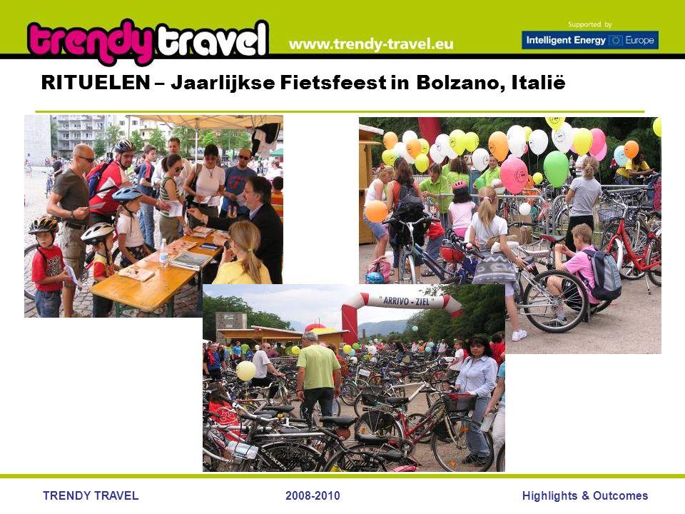 Highlights & OutcomesTRENDY TRAVEL2008-2010 RITUELEN – Jaarlijkse Fietsfeest in Bolzano, Italië