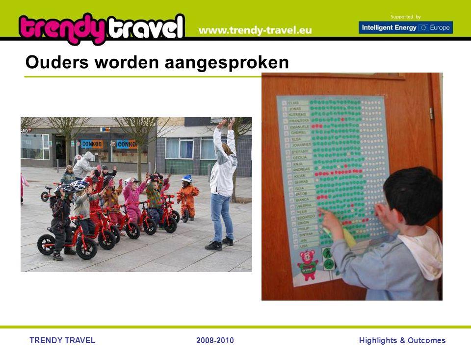 Highlights & OutcomesTRENDY TRAVEL2008-2010 Ouders worden aangesproken