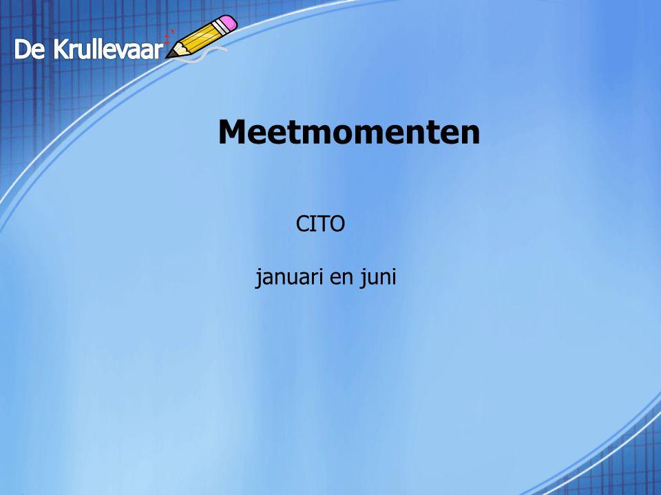 Meetmomenten CITO januari en juni