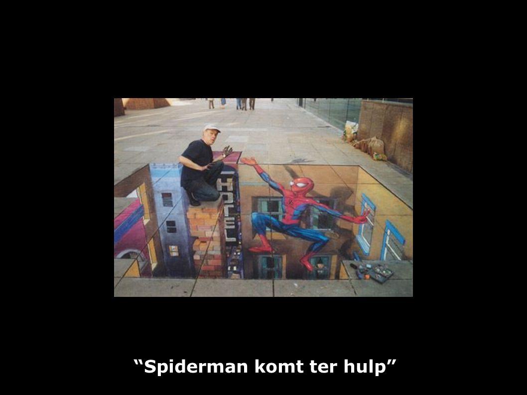 """Spiderman komt ter hulp"""