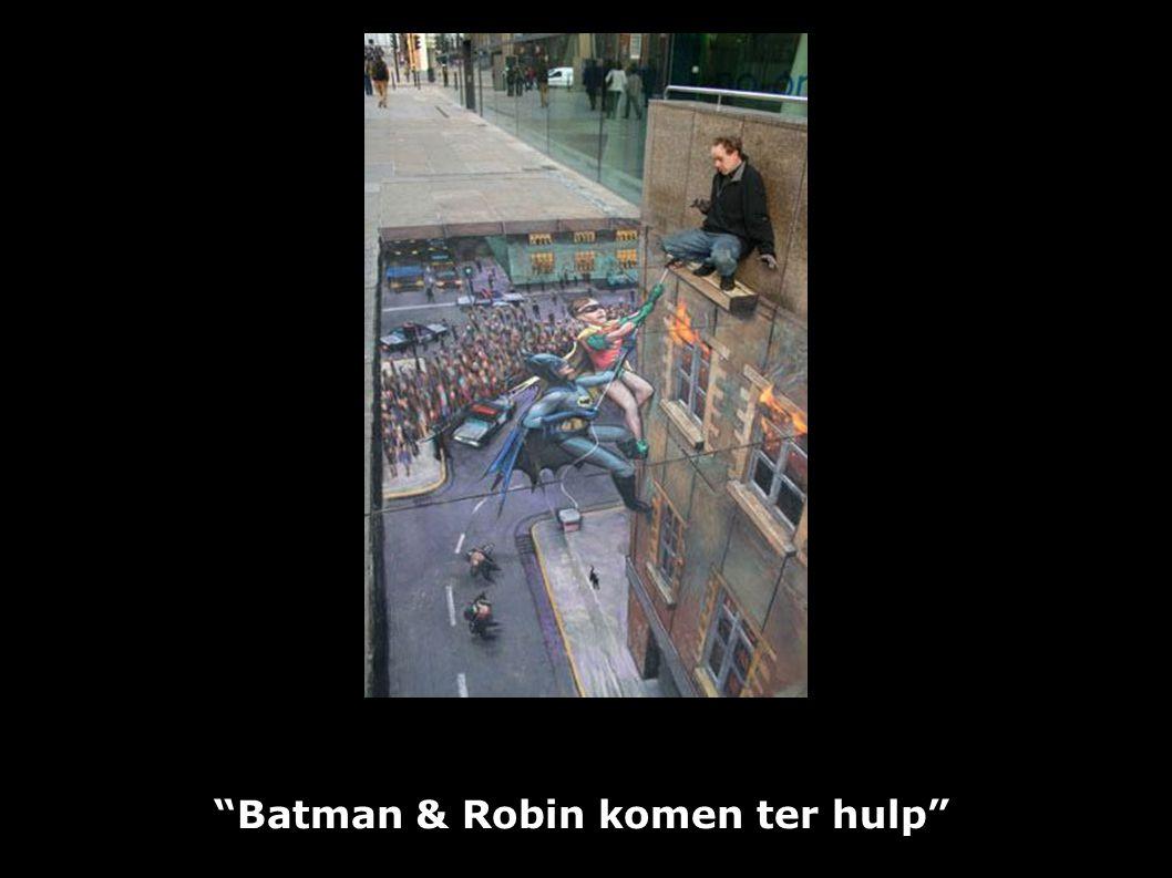 """Batman & Robin komen ter hulp"""