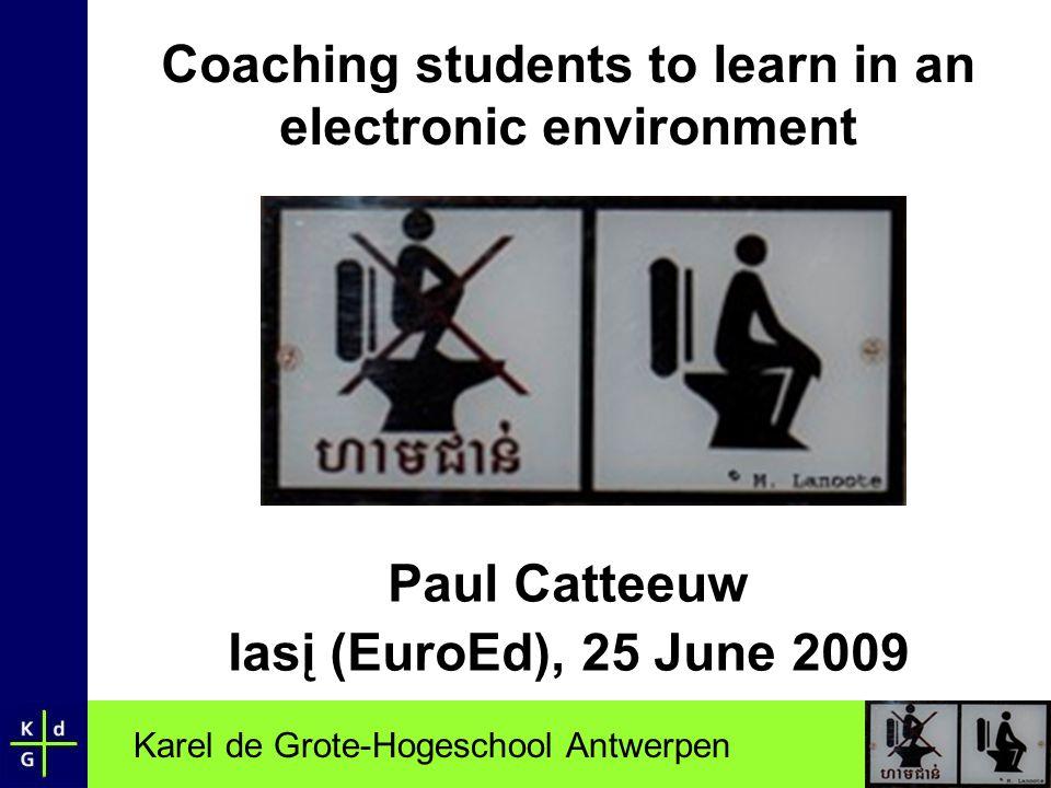 Karel de Grote-Hogeschool Antwerpen 1 Introduction I had a dream…. or … was it a nightmare?