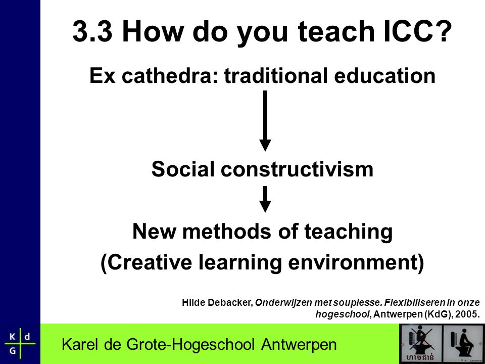 Karel de Grote-Hogeschool Antwerpen 3.3 How do you teach ICC.