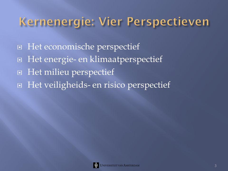  Het economische perspectief  Het energie- en klimaatperspectief  Het milieu perspectief  Het veiligheids- en risico perspectief 3