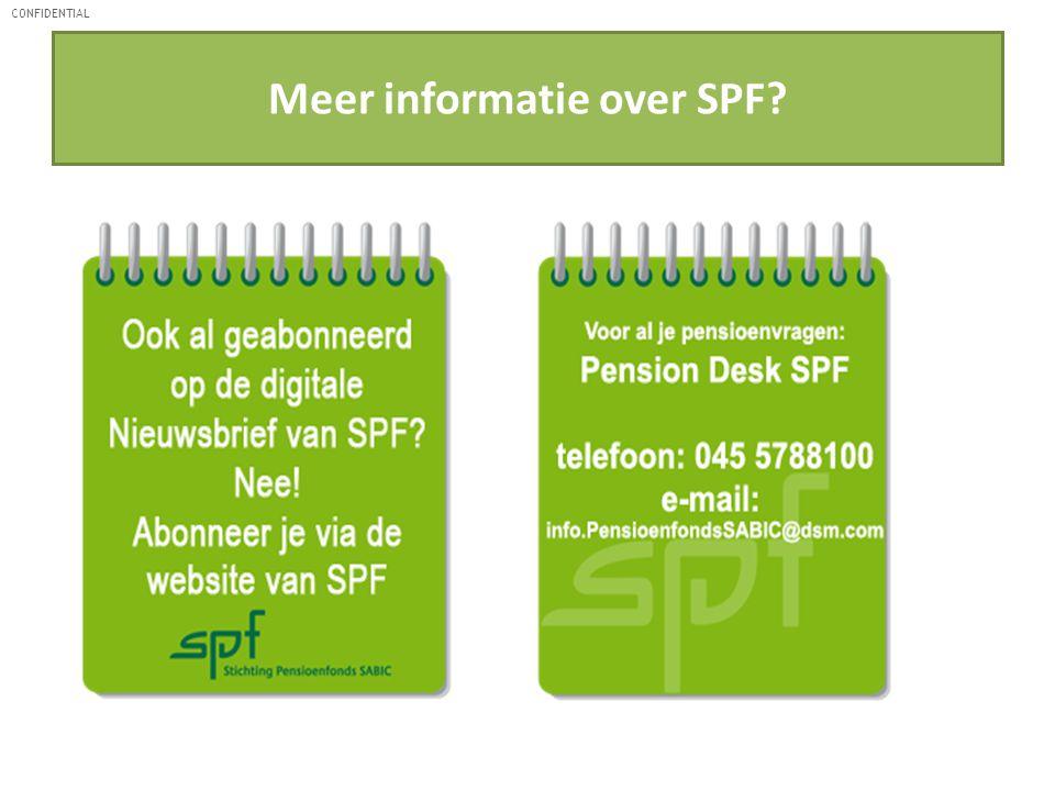 CONFIDENTIAL Meer informatie over SPF?