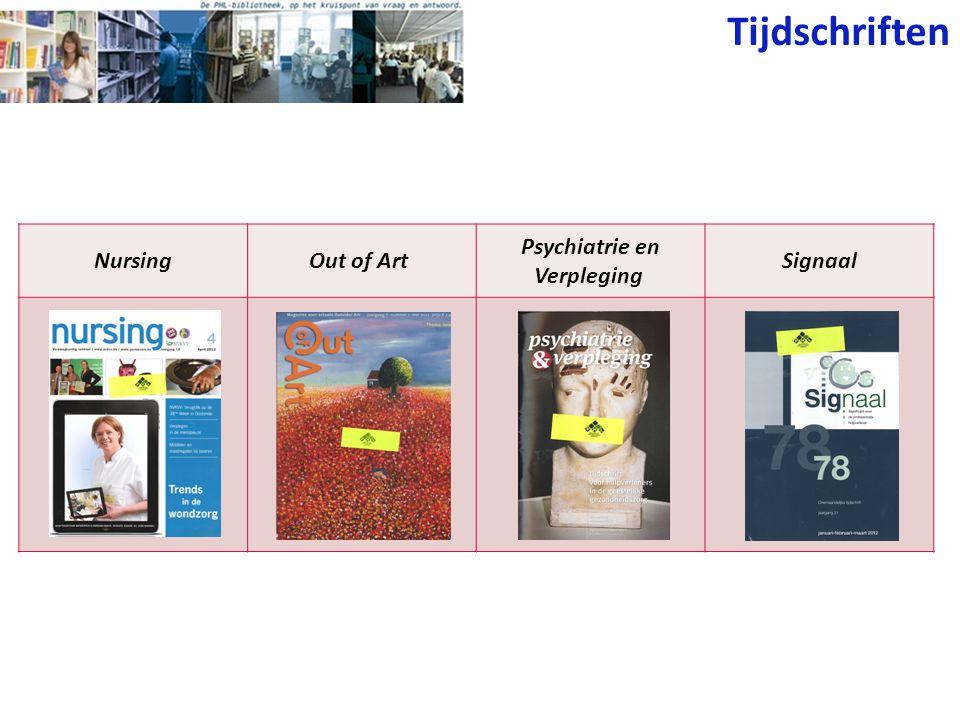 Tijdschriften NursingOut of Art Psychiatrie en Verpleging Signaal