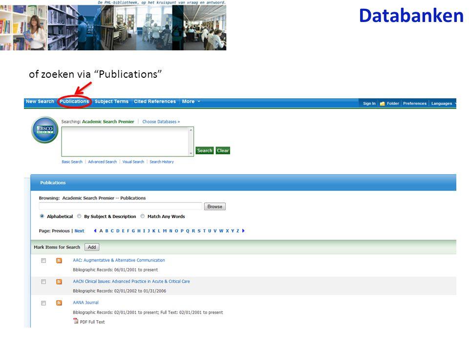 Science Direct Wetenschappelijke tijdschriften (Elsevier) met inhoudstafel, abstracts en/of full text.